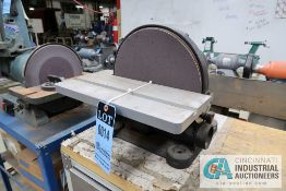 "12"" DISC CENTRAL MACHINERY MODEL 43468 BENCH DISC SANDER"