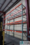 """(LOT) (9) SECTIONS 108"""" X 42"""" X 180"""" AND (2) SECTIONS 96"""" X 42"""" X 180"""" ADJUSTABLE BEAM PALLET RACKS"""