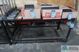 "**30"" X 68"" X 34"" HIGH X 3/8"" THICK STEEL TOP PLATE HEAVY DUTY WELDED STEEL WORK BENCH **DELAYED"