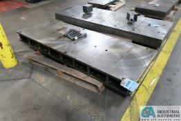 """25-1/2"""" X 72"""" X 6"""" HIGH DRILLED AND TAPPED PRESS BED"""