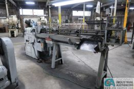 """5/16"""" LEWIS MODEL 2CV WIRE STRAIGHT AND CUT MACHINE WITH 8' RACK; S/N 590-6 (NEW 10-1974"""