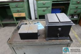 L-W AND ECLIPSE BENCH MOUNTED DEMAGNETISER WITH CABINET