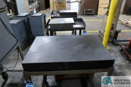 "24"" X 36"" X 4"" THICK BLACK GRANITE SURFACE PLATE WITH STAND"