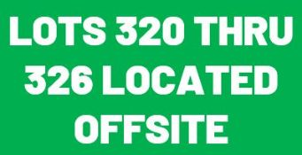 Lots 320 thru 326 are surplus to a local stamping and are located offsite.