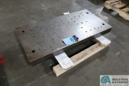 """19-1/4"""" X 39-1/2"""" X 3"""" THICK DRILLED AND TAPPED PRESS BED"""