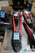 (LOT) MISCELLANEOUS SIZE LONG AND SHORT HANDLE BOLT CUTTERS