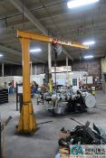 """1,000 LB. CAPACITY X 10' ARM X 130"""" OVERALL HEIGHT HANDLING SYSTEMS FREE-STANDING JIB CRANE WITH 1,"""
