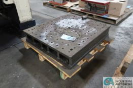 """34"""" X 30"""" X 6"""" HIGH DRILLED AND TAPPED PRESS BED"""
