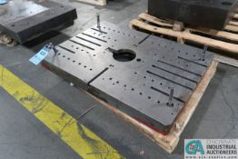 """37"""" X 27"""" X 3"""" THICK T-SLOTTED DRILLED AND TAPPED PRESS BED"""