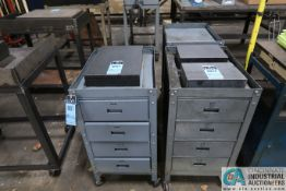 "18"" X 24"" X 35-1/2"" HIGH FOUR DRAWER TOOL CARTS"
