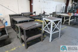 (LOT) STEEL BENCHES AND CARTS