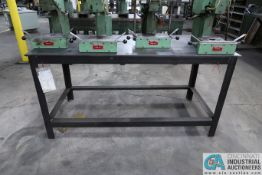 """**30"""" X 68"""" X 34"""" HIGH X 1/2"""" STEEL TOP PLATE WELDED STEEL TABLE **DELAYED REMOVAL - PICKUP 12-9-"""