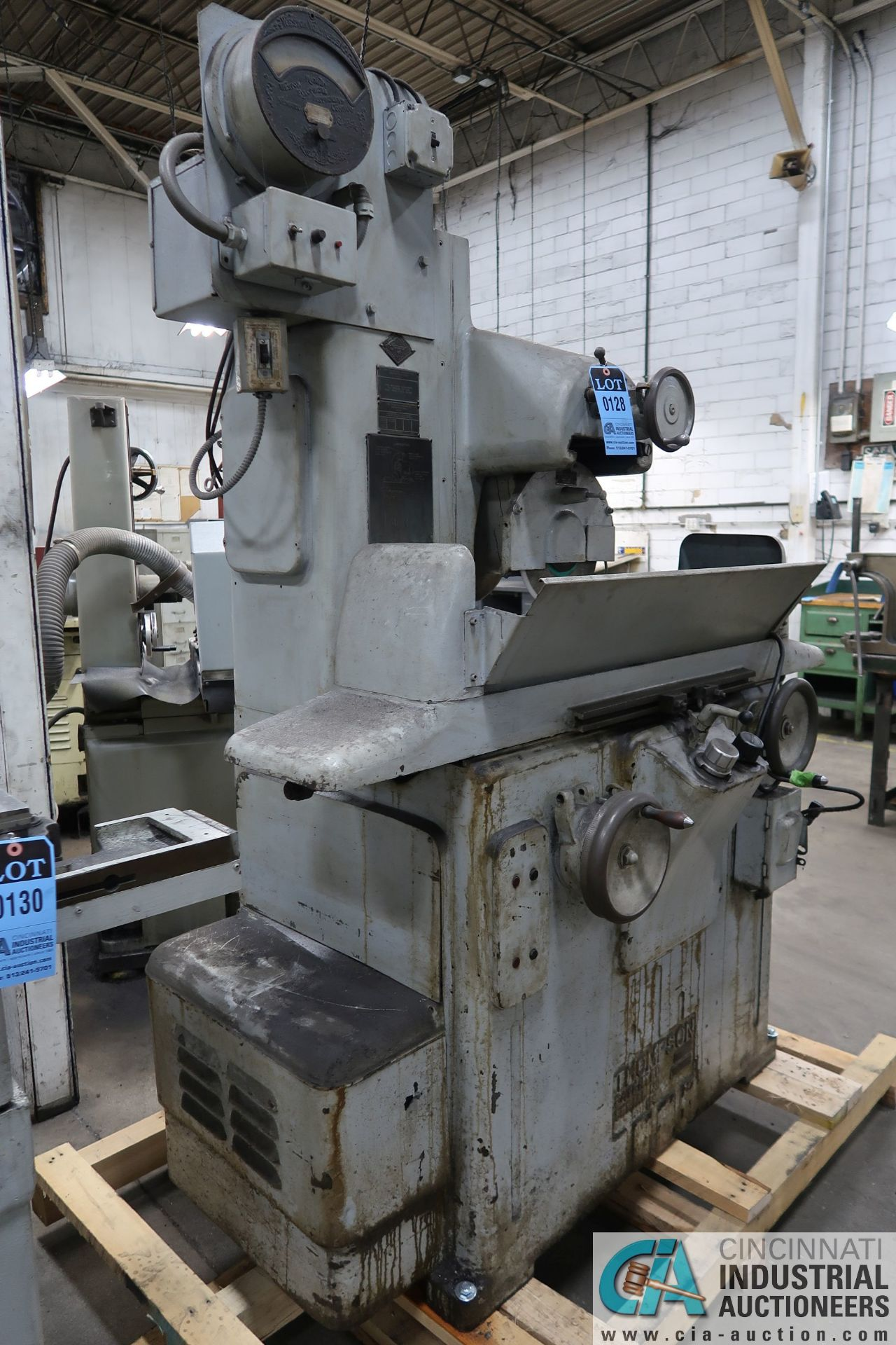 """6"""" X 18"""" THOMPSON HAND FEED SURFACE GRINDER; S/N F46258, 220 VOLTS, 3-PHASE, 1-1/2 HP MOTOR - Image 7 of 10"""