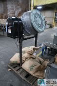 PORTABLE ELECTRIC CEMENT MIXERS CONVERTED TO CORN COB MEDIA FINISHING MACHINE WITH SIFTING TABLE AND