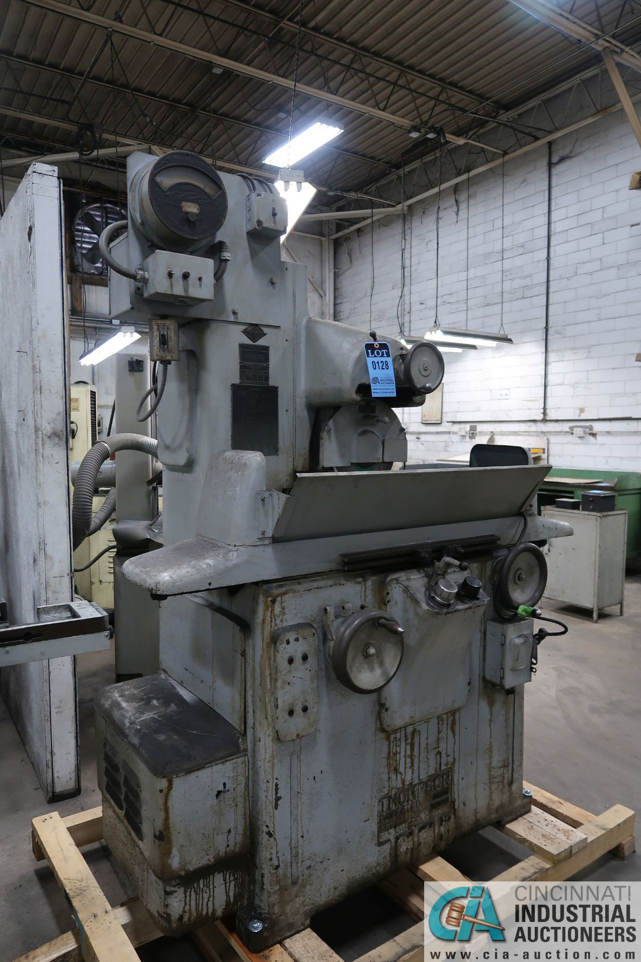"""6"""" X 18"""" THOMPSON HAND FEED SURFACE GRINDER; S/N F46258, 220 VOLTS, 3-PHASE, 1-1/2 HP MOTOR - Image 2 of 10"""