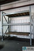 """SECTIONS 50"""" X 106"""" X 120"""" HIGH TEAR DROP STYLE ADJUSTABLE BEAM PALLET RACK, (12) 5"""" FACE STEP"""