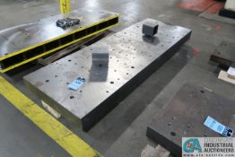 """28"""" X 82"""" X 5"""" THICK DRILLED AND TAPPED PRESS BED"""