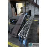 "14"" WIDE X 72"" LONG CLEATED BELT INCLINE POWER CONVEYOR WITH 10"" WIDE X 120"" X 64"" LONG GRAVITY FEED"