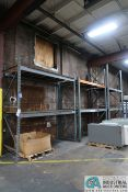 """SECTIONS 106"""" X 44"""" X 114"""" X 180"""" UPRIGHTS ADJUSTABLE BEAM PALLET RACKS"""