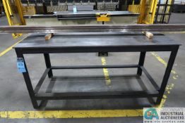 """30"""" X 68"""" X 34"""" HIGH X 7/16"""" THICK STEEL TOP PLATE WELDED FRAME STEEL TABLE"""