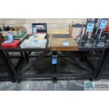 """**30"""" X 68"""" X 34"""" HIGH X 3/8"""" THICK STEEL TOP PLATE HEAVY DUTY WELDED STEEL WORK BENCH **DELAYED"""