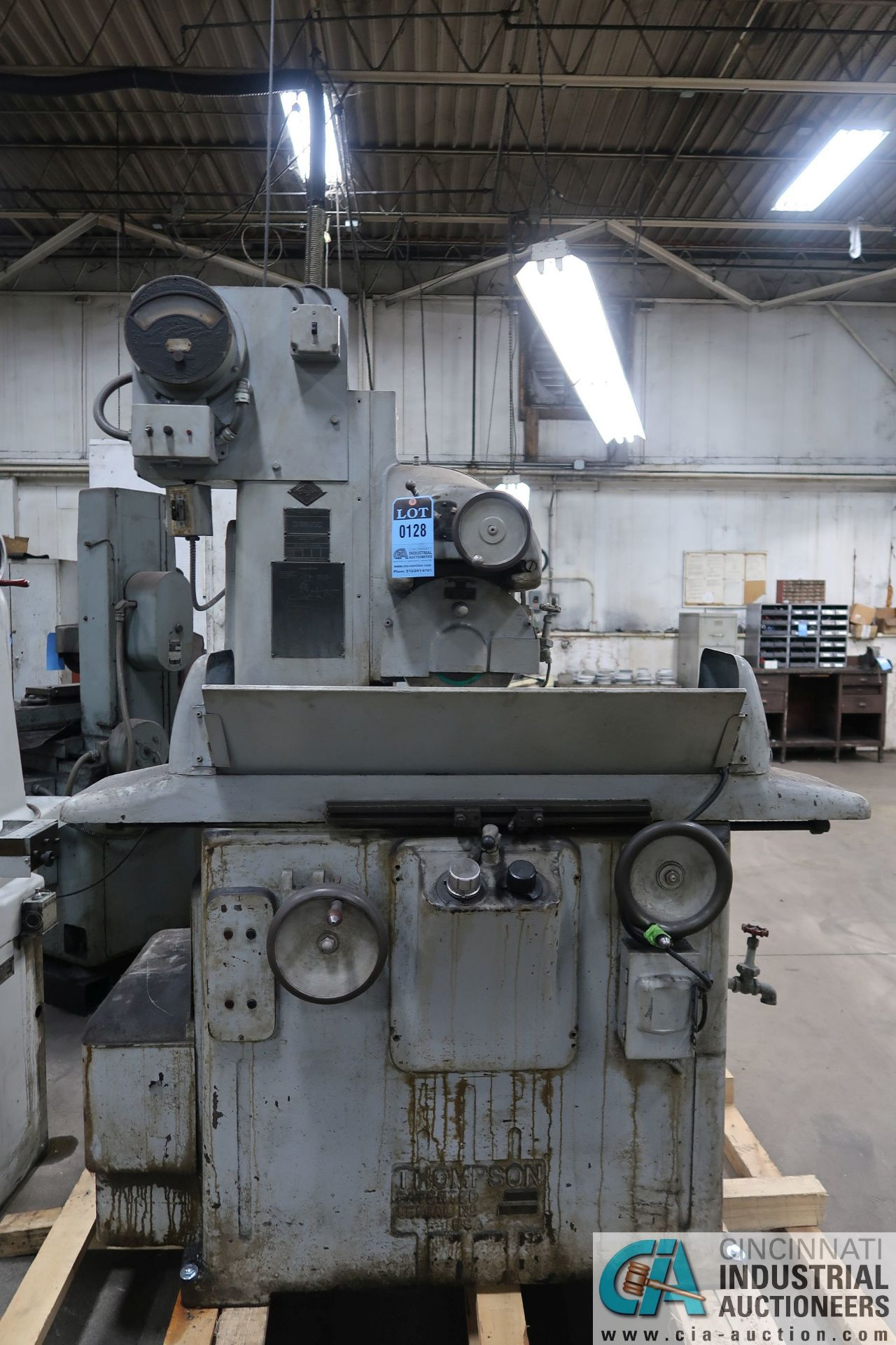 """6"""" X 18"""" THOMPSON HAND FEED SURFACE GRINDER; S/N F46258, 220 VOLTS, 3-PHASE, 1-1/2 HP MOTOR - Image 3 of 10"""