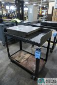 "(1) 24"" X 36"" X 35"" HIGH AND (1) 20"" X 36"" X 35"" HIGH HEAVY DUTY STEEL WELDED TABLES"