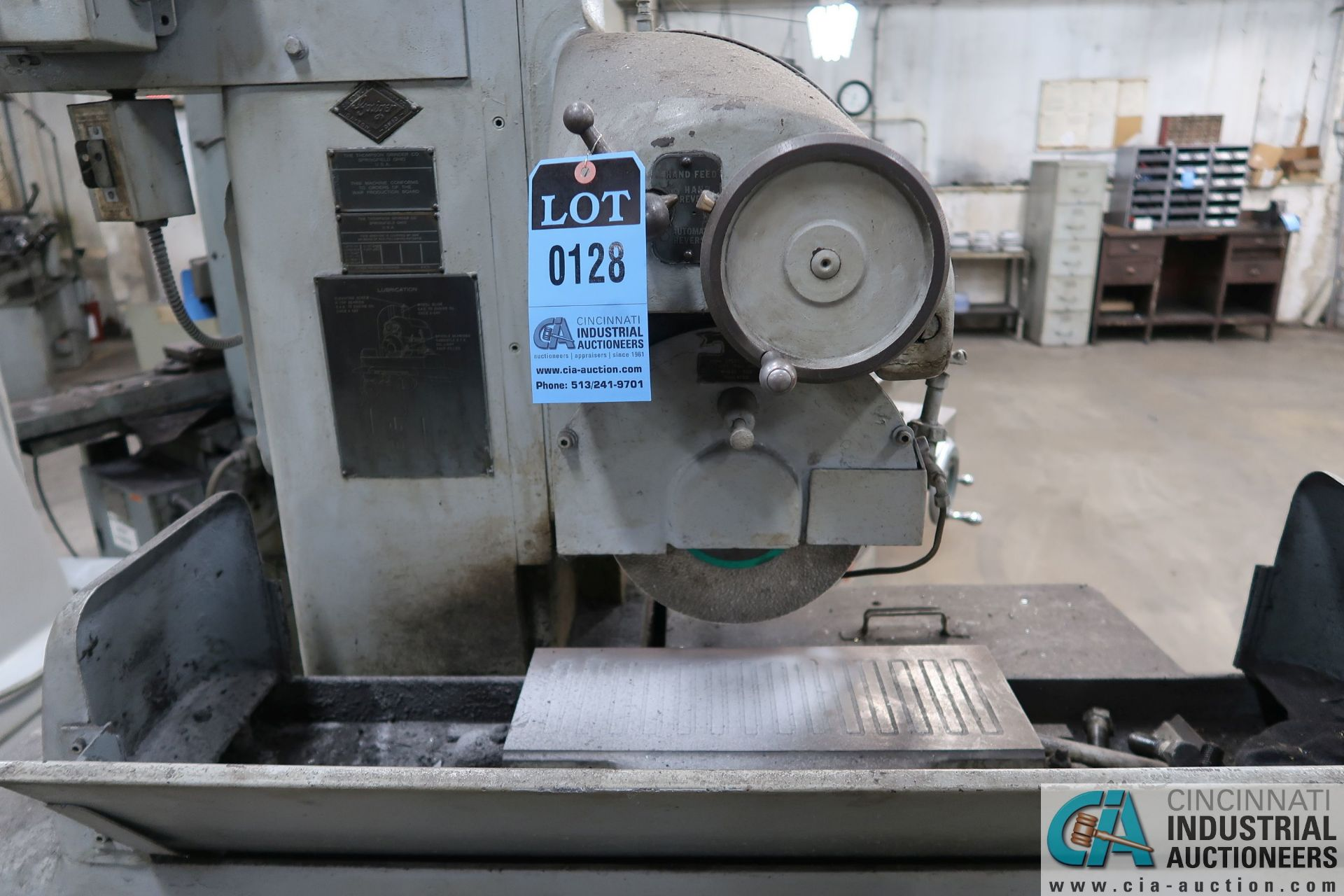 """6"""" X 18"""" THOMPSON HAND FEED SURFACE GRINDER; S/N F46258, 220 VOLTS, 3-PHASE, 1-1/2 HP MOTOR - Image 4 of 10"""