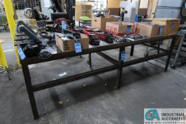 "**48-1/2"" X 120-1/2"" X 37-1/2"" HIGH HEAVY DUTY WELDED STEEL BENCH **DELAYED REMOVAL - PICKUP 12-9-"