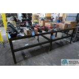 """**48-1/2"""" X 120-1/2"""" X 37-1/2"""" HIGH HEAVY DUTY WELDED STEEL BENCH **DELAYED REMOVAL - PICKUP 12-9-"""