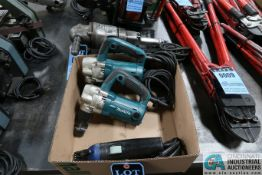 10 GAUGE CAPACITY MAKITA MODEL JN3201 RIGHT ANGLE ELECTRIC NIBBLERS WITH (1) STRAIGHT SHAFT NIBBLER