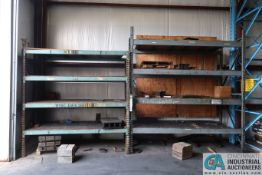 """(2) SECTIONS - (1) 90"""": X 42"""" X 96"""" AND (1) 106"""" X 42"""" X 120"""" HEAVY DUTY ADJUSTABLE BEAM PALLET"""