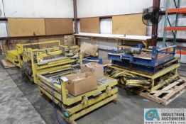 (LOT) MISCELLANEOUS POWERED ROLLER CONVEYOR LIFT TABLES