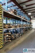 """(5) SECTIONS - (4) 128"""" X 48"""" X 111"""" AND (1) 106"""" X 42"""" X 106"""" HEAVY DUTY ADJUSTABLE BEAM PALLET"""