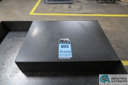"18"" X 24"" X 4"" THICK BLACK GRANITE SURFACE PLATE"