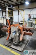 """4,000 LB. (APPROX.) MFG UNKNOWN DOUBLE-END EXPANDING MANDREL UNCOILER; S/N N/A, WITH 10"""" WIDE"""