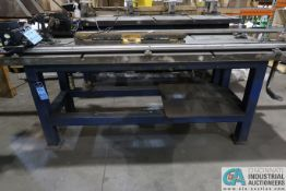 """90"""" X 36"""" T-SLOTTED HEAVY DUTY STEEL WELDING TABLE **LOCATED AT 4119 BINION WAY, LEBANON, OH"""