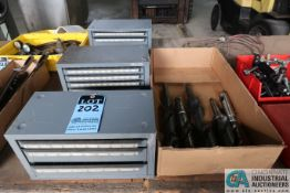 HUOT DRILL CABINETS & DRILL W/ MORSE TAPER DRILLS **LOCATED AT 110 EAST SEYMOUR AVE., CINCINNATI,