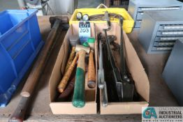 (LOT) MISC. HAND TOOLS W/ ESAB TORCH SET **LOCATED AT 110 EAST SEYMOUR AVE., CINCINNATI, OHIO