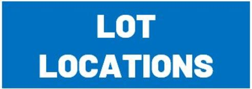 LOT LOCATIONS – Items at this auction are located at several different businesses throughout the US