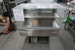 DIAMOND 29''X44'' REFRIGERATED DISPLAY CASE 2 GLASS DOORS, WITH COMPRESSOR