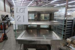 DIAMOND 28''X45'' GRAB & GO HOT DISPLAY CASE 2 GLASS DOORS ON BACK SIDE, 208 VOLTS, 3PH, 2 KW, MOD :