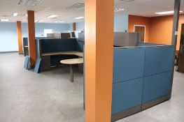 Office cubicle sections