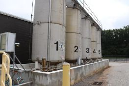 Stainless tank farm including 5 tanks and all components.