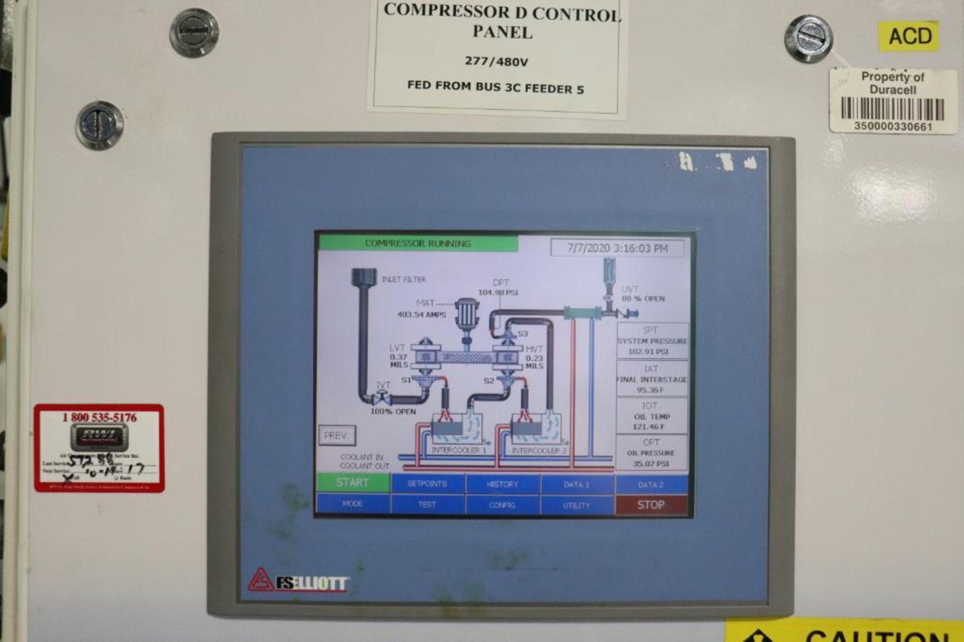 Elliot 180AD 1800 CFM compressor w/ dryer - Image 2 of 19