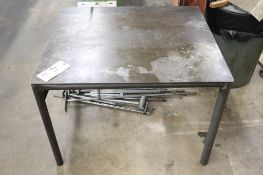 "Steel table 33.5"" x 38"" x 27"""