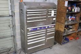 Cobalt stainless tool box w/ contents