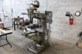 Bridgeport J head milling machine w/ DRO