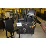 8 Black leather bar stools