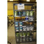 Specialty paints and finishes w/ two metal shelf units